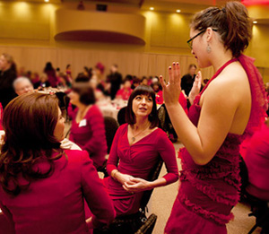 Heart care forum red dress © 2012 UC Regents