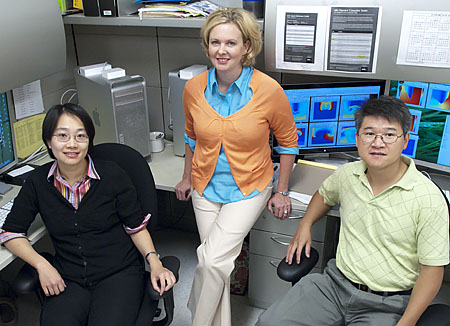 (Left to right) Pei-Chi Yang, Colleen Clancy and Mao-Tsuen Jeng © UC Regents