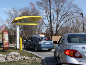 fast-food restaurant drive through lane © iStockphoto9