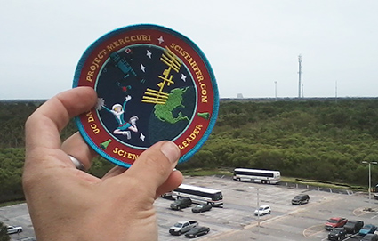 Project patch at launch site © UC Regents