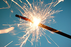 Sparklers must be used with caution © UC Regents