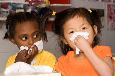 children with flu © iStockphoto