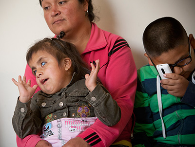 The Moya children, born with a rare form of glaucoma, await examinations with UC Davis Eye Center surgeons
