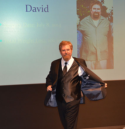 Bariatric surgery patient David is now 100 pounds lighter © UC Regents