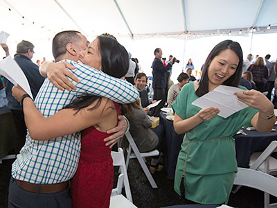 Image of medical students receiving their Match