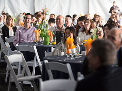 Image of family and friends eagerly awaiting the Match Day results © UC Regents