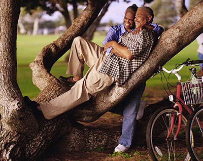 Photograph of African-American couple enjoying the afternoon © iStockphoto