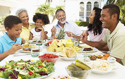 Family outdoor meal © iStockphoto