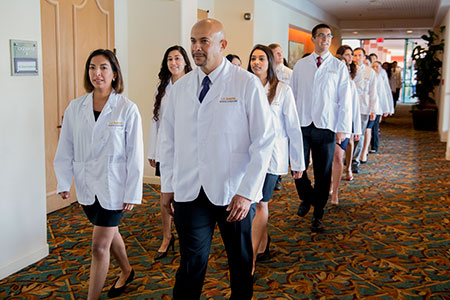 Procession into induction ceremony © UC Regents