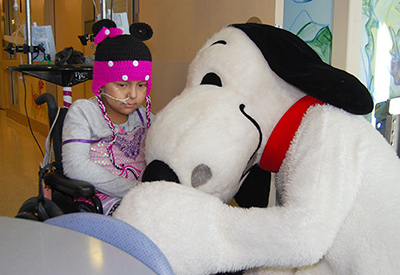 Snoopy is a good listener © UC Regents