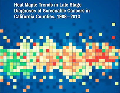 Cancer heat map book cover