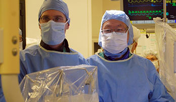 UC Davis cardiologists Jeffrey Southard and Reginald Low