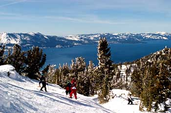 Skiing at Lake Tahoe