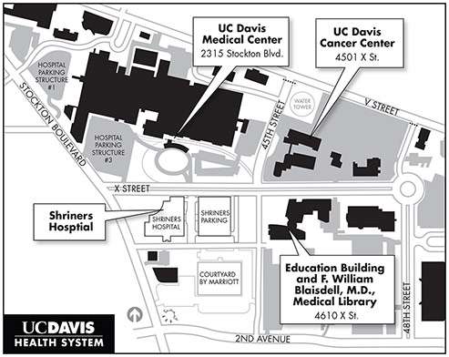 Map of UC Davis Education Buildings