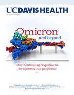 Cover of UC Davis Health magazine, copyright UC Regents