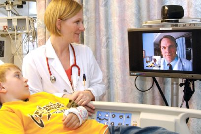 Telemedicine at UC Davis Health. © UC Regents