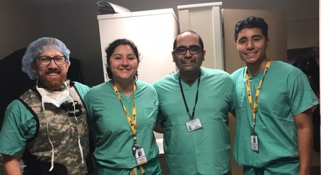 Enrique Barajas (far right), 2019 Prep Medico Scholar