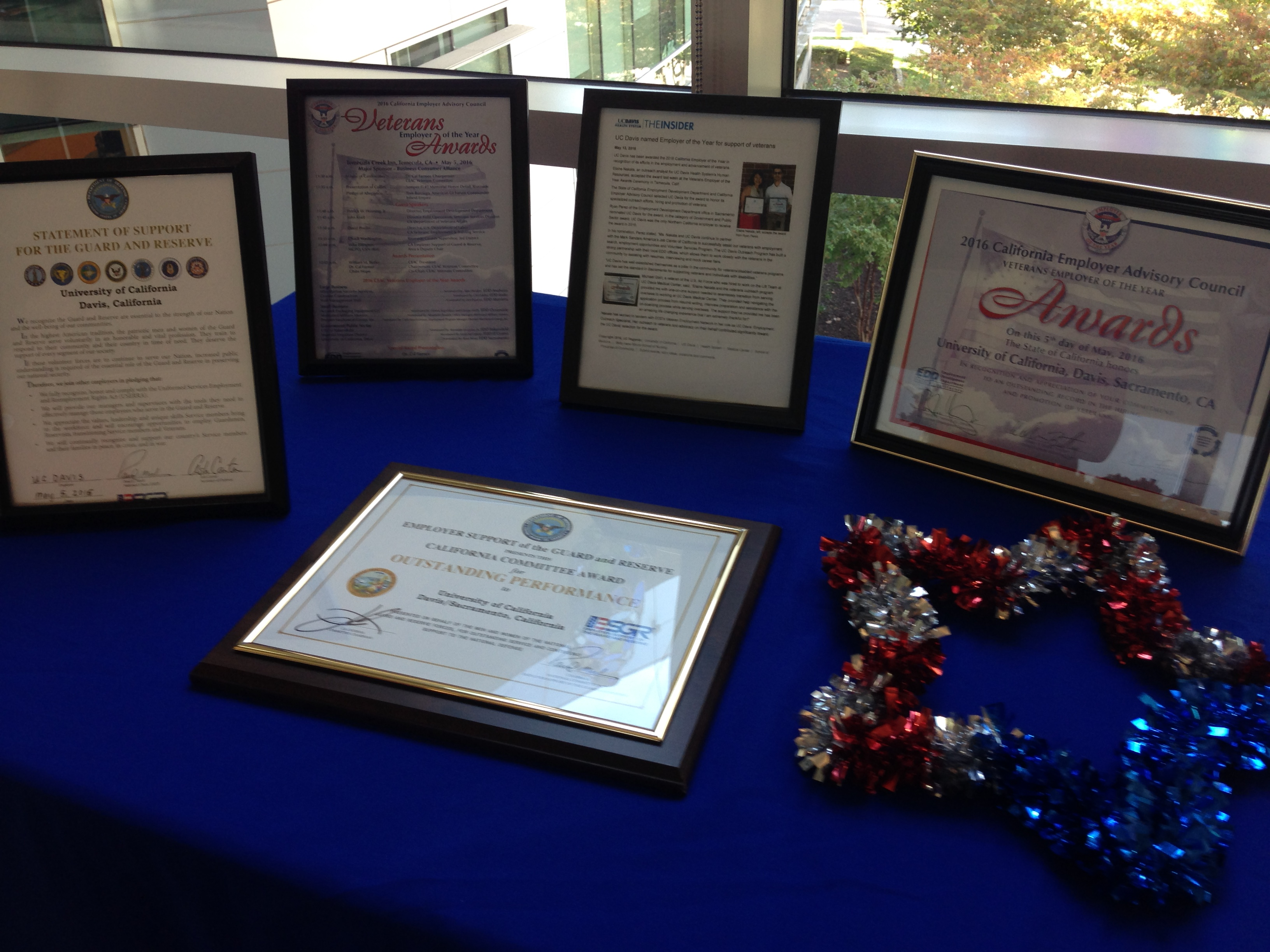 Veterans Day Event Table