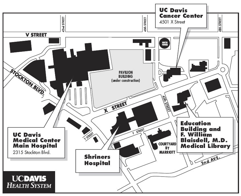 Uc Davis Medical Center Campus Map | Map North East on