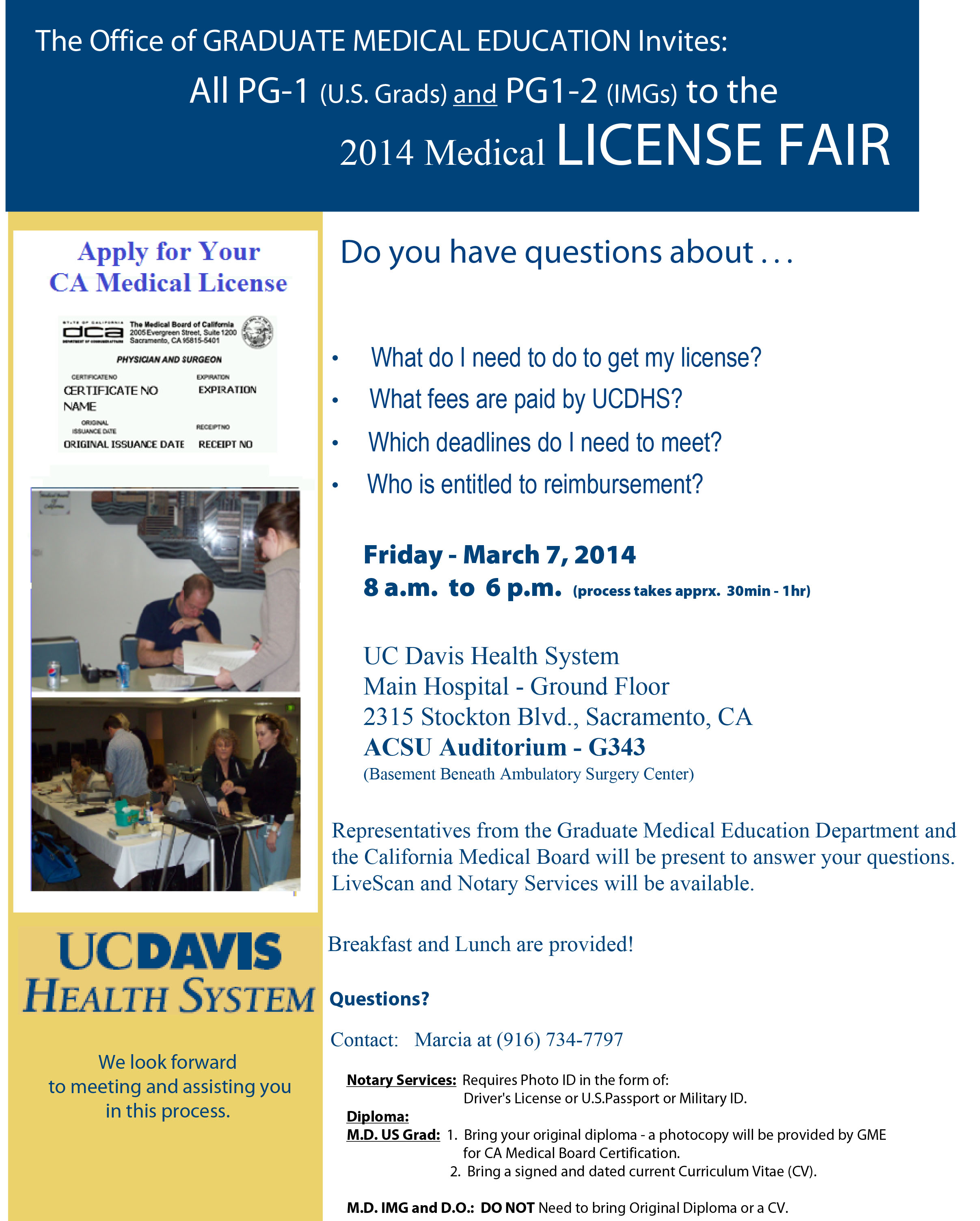 2014 License Fair Flyer
