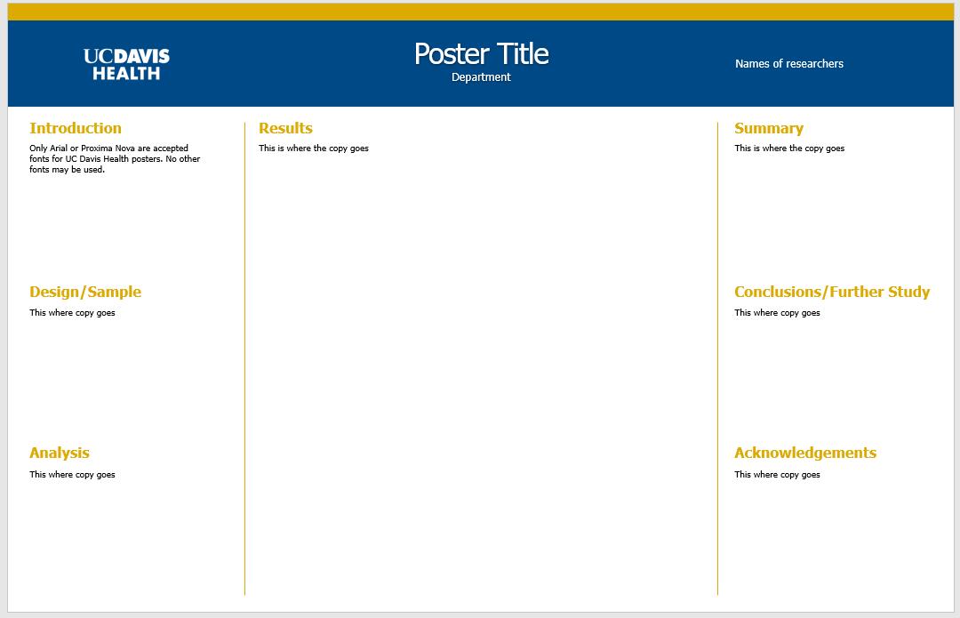 UC Davis Health Graphic Standards | Templates
