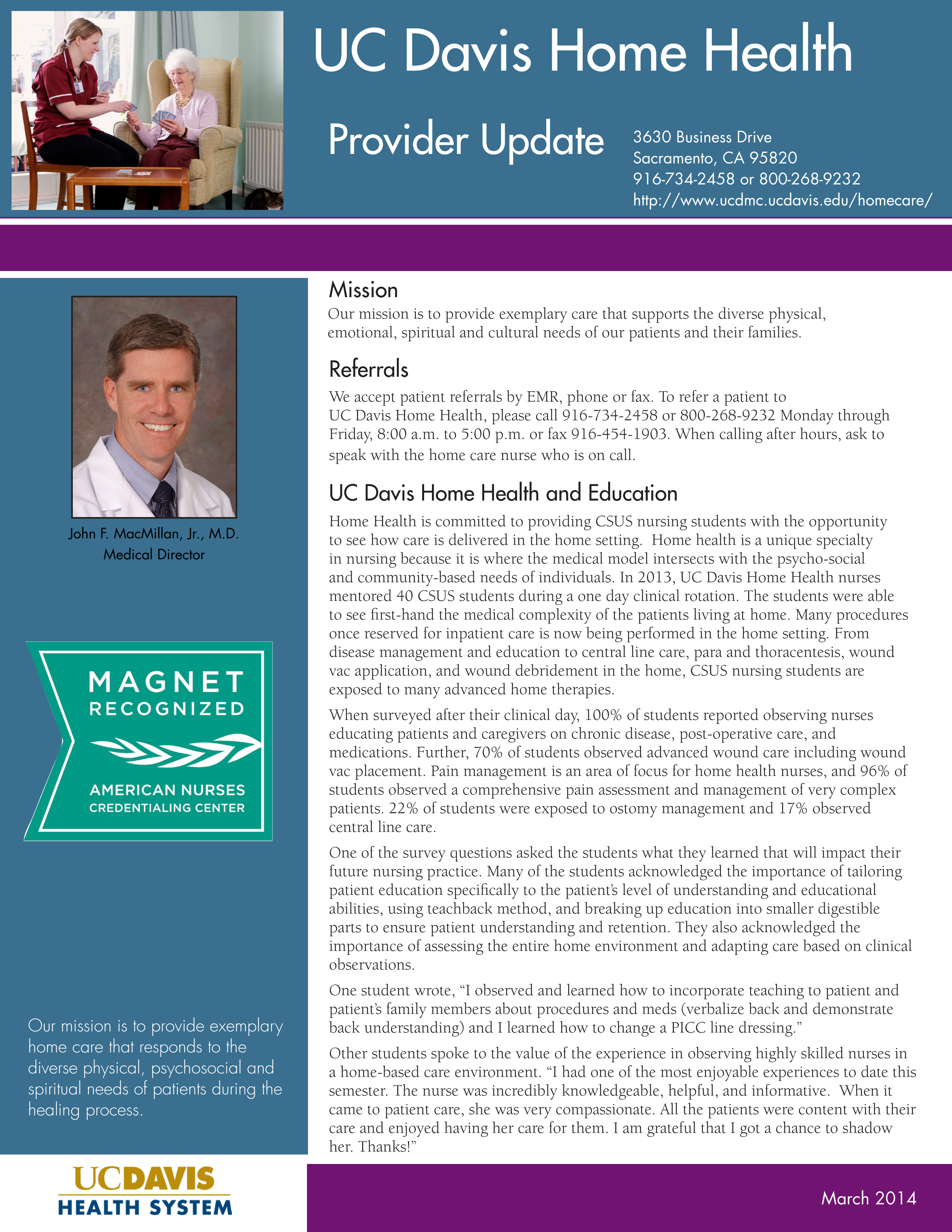 Home Health Provider Update