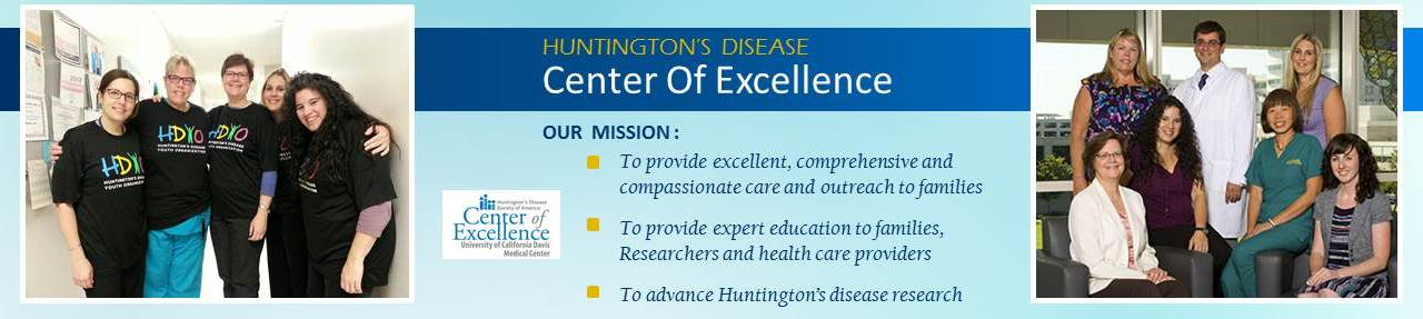 Huntington's disease Center of Excellence at UC Davis