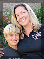 Sandra Bugalski with her son © UC Regents