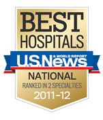 U.S. News Best Hospitals 2011-2012 Badge © US News