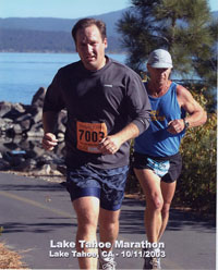 Lake Tahoe Marathon, October 11, 2003, Nicholas Kenyon, M.D.