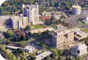 Aerial photo of UC Davis Medical Center