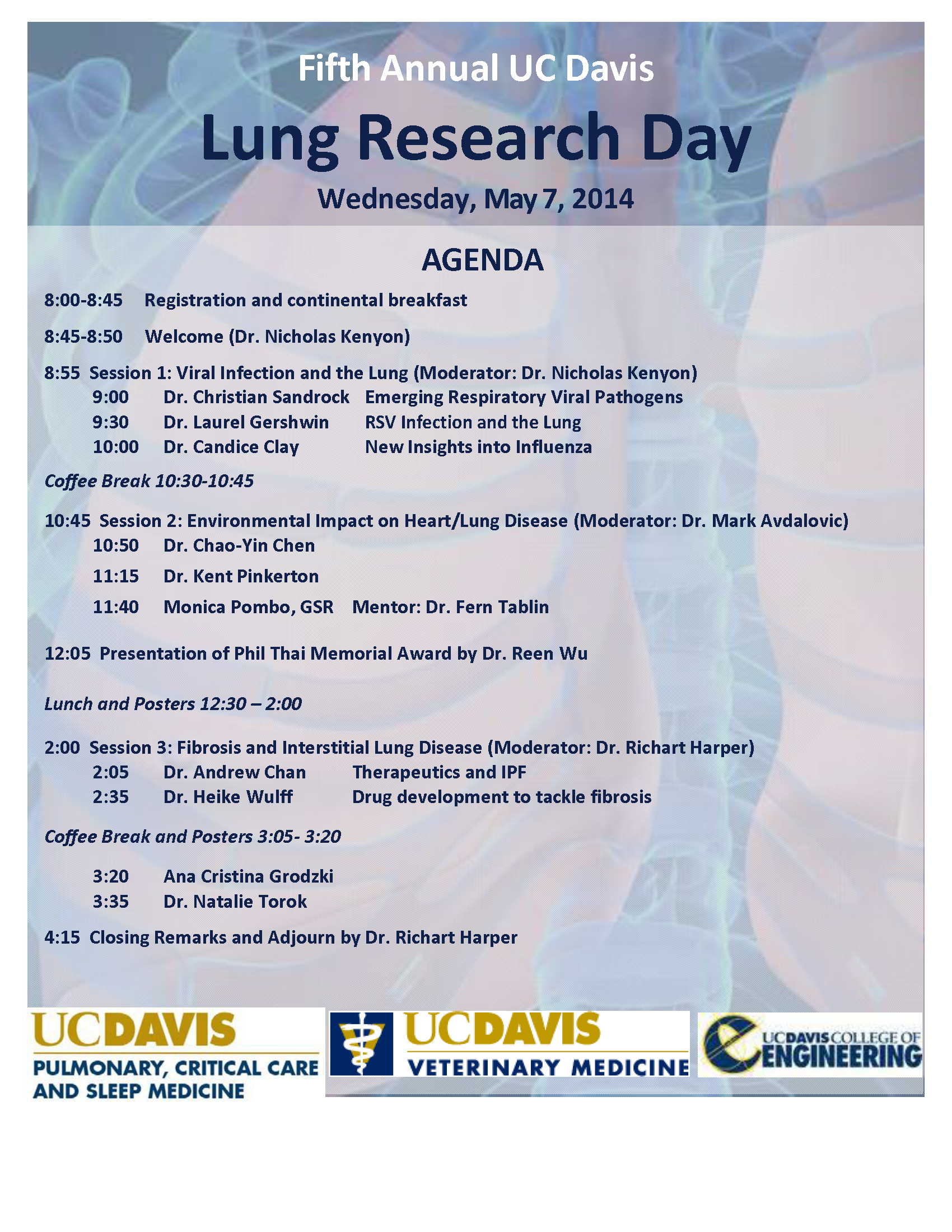 Lung Research Day Agenda
