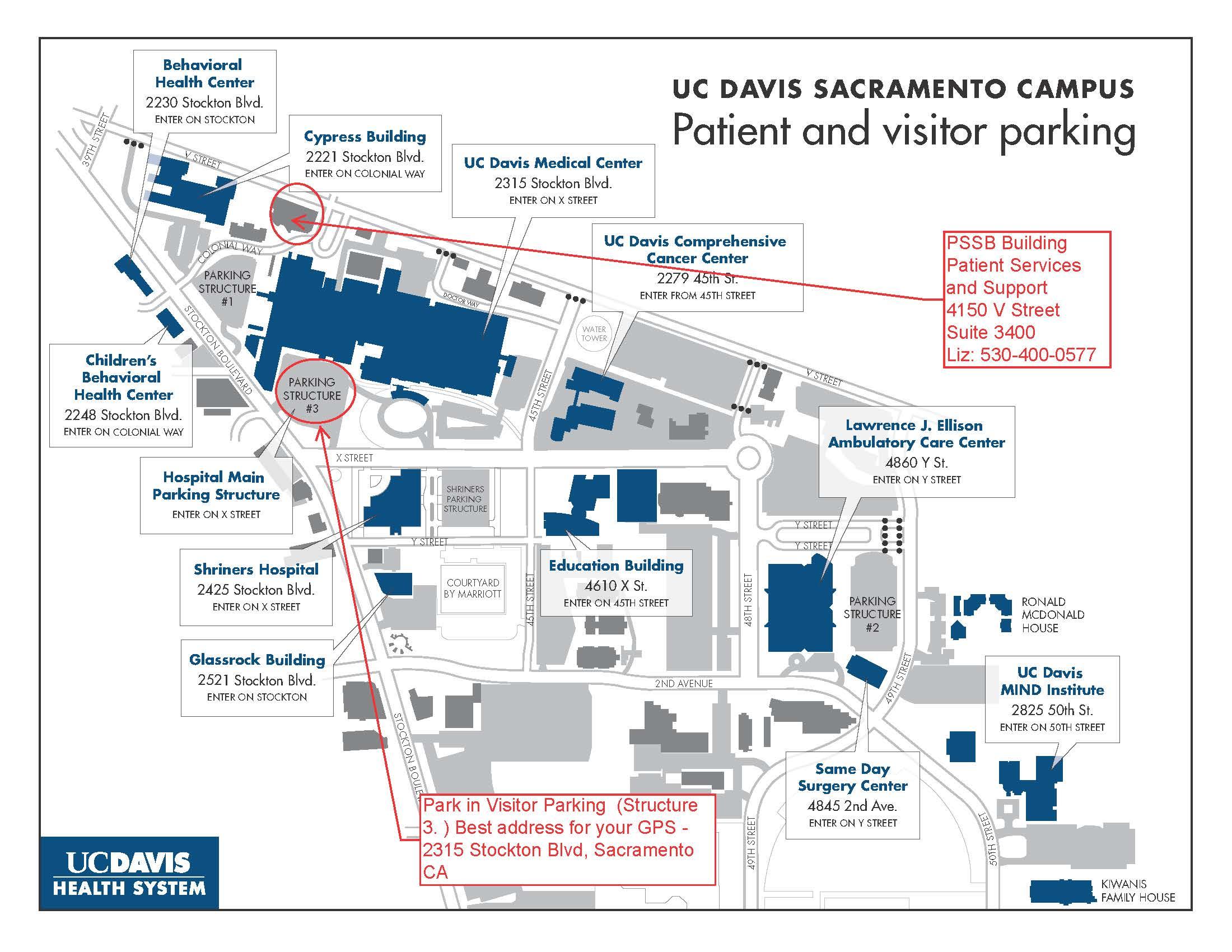 Ucdmc Map Pssc And Parking on Uc Davis Location