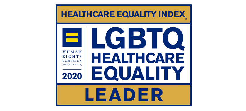 LGBTQ Healthcare Equality Leader graphic