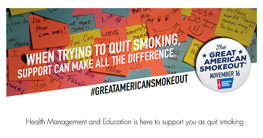 Encouragement to quit smoking