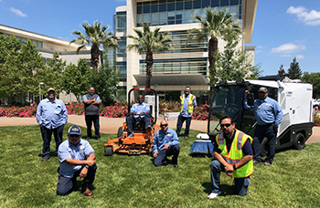 UC Davis Health groundskeeping team.