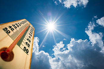 sun and thermometer