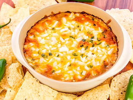 Layered bean dip with chips