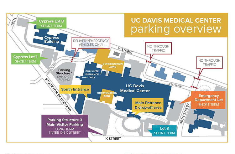 Directions And Parking Information For Uc Davis Medical Center
