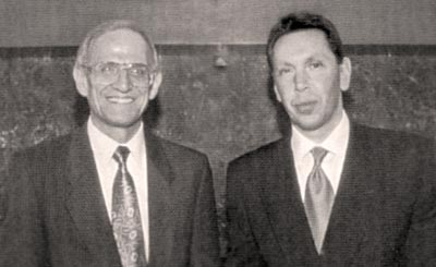 Michael Chapman, M.D., and Lawrence J. Ellison, Oracle CEO