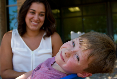 child with caregiver