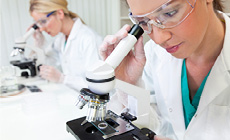 Medical researchers in lab