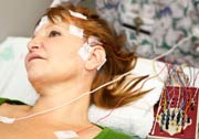 EEG on female patient