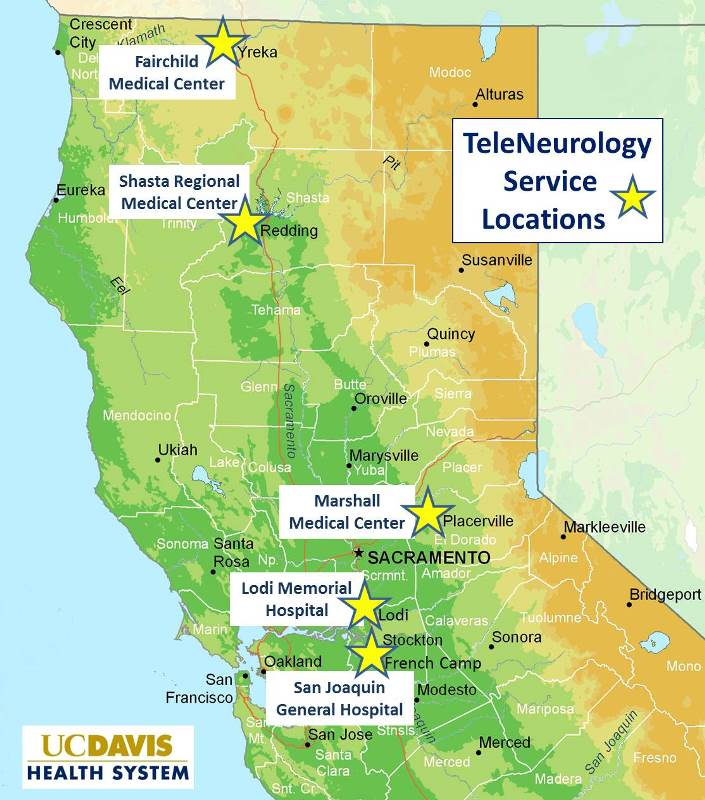 UC Davis Neurology TeleNeurology Locations