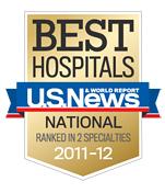 US News Best Hospitals 2011-2012 badge © US News