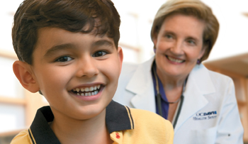 Randi Hagerman with child patient © UC Regents