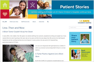 UC Davis Children's Hospital Patient Stories blog