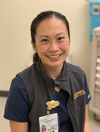 portrait of Kiki Wong-Yee, nurse at UC Davis Health