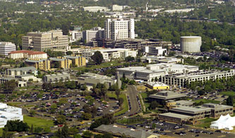 Aerial photo of UC Davis' Sacramento campus
