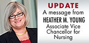 Message from Heather M. Young, AVC for Nursing